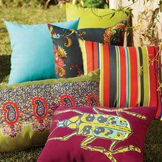 Outdoor Throw Pillows at Cost Plus World Market >> #WorldMarket Outdoor Entertaining & Decor