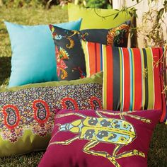 Outdoor Throw Pillows at Cost Plus World Market >> #WorldMarket Outdoor Entertaining & Decor