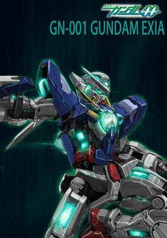a collection of gundam artwork from around the web Gundam Exia, Gundam 00, Overwatch Wallpapers, Gundam Wallpapers, Gundam Mobile Suit, Frame Arms Girl, Gundam Custom Build, Cool Robots, Mecha Anime