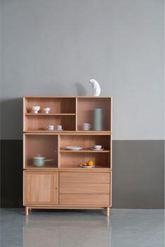 Glass Shelves For Bar Design Furniture, Home Decor Furniture, Kitchen Furniture, Furniture Decor, Design Industrial, Shelving Design, Japanese Interior, Cabinet Design, Furniture Inspiration