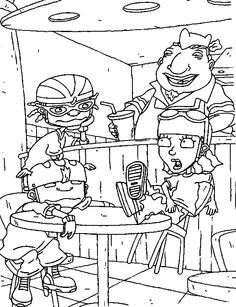 rocket power coloring pages.html