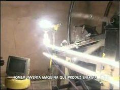 Brasiliense inventa máquina que produz energia   Vídeos   R7
