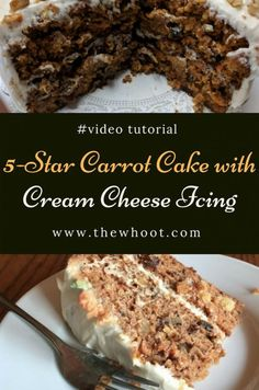 5 Star Carrot Cake With Cream Cheese Icing Video Recipe Funnel Cake 5 star funnel cake recipe Cream Cheese Icing, Cake With Cream Cheese, Cool Whip, Mini Cakes, Cupcake Cakes, Cupcakes, Bundt Cakes, Cake Recipes, Dessert Recipes