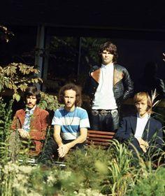 The Doors (in Germany, September 1968). Left to right: John Densmore, Robbie Krieger, Jim Morrison and Ray Manzarek