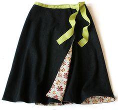 reversible wrap skirt (w/ beginner instructions)