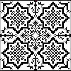Biscornu Sweden ... no color chart available, just use the pattern chart as your color guide.. or choose your own colors...    - The Needlework Shop - Cross stitch charts & Needlework kits