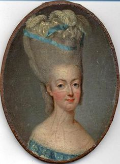 Even the Queen was not immune to such difficulties. In February 1776, the Duchesse de Chartres held a ball in her honor at the Palais Royal; for the occasion, Marie Antoinette had decided to sport & double-height & ostrich feathers in her hair. But in order to exit from her carriage without damaging her plumage, she had to have her ladies remove it first, and then replace it in her headdress after she disembarked. Queen of Fashion:
