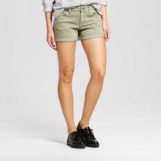 Women's Mid Rise Midi Short Green