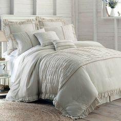 Queen Comforter Sets Beige Comforters & Bedding Sets for Bed & Bath - JCPenney Queen Comforter Sets, King Comforter, Bedding Sets, Blue Comforter, King Size Bedding Comforters, Bed Sets, Console, Farmhouse Style Bedding, Textured Bedding