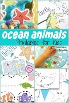 Ocean Animals Printables for Kids. These are great crafts and activities for kids.