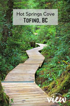 Boardwalk at Hot Springs Cove. Hot Springs Cove is a tour destination you should not miss while in Tofino on Vancouver Island Vancouver Island, Vancouver Travel, Oh The Places You'll Go, Places To Travel, Travel Destinations, Places To Visit, British Columbia, Columbia Travel, Island Travel