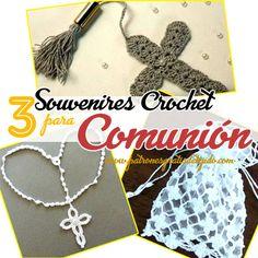 souvenires tejidos a crochet para primera comunion