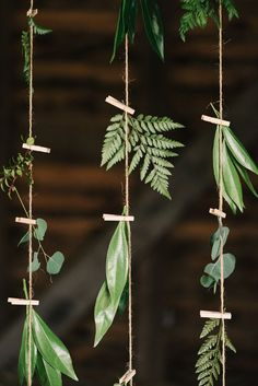 greenery garland backdrop - photo by Briana Arlene Photography http://ruffledblog.com/airy-romantic-wedding-inspiration