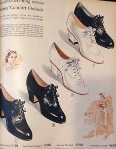 1940s nurse shoes