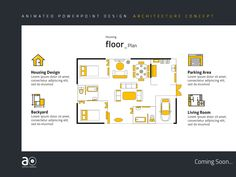 Arc Presentation Design Housing Floor Plan by Alpha Omega Concept Architecture, Architecture Design, Cool Animations, Plan Design, Presentation Design, Lorem Ipsum, House Plans, Floor Plans, Flooring