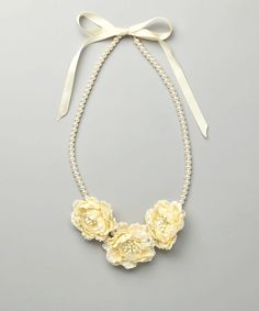 Take a look at this SBNY Petite Ivory Faux Pearl Flower Necklace on zulily today!