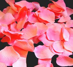 Coral Flower Girl Basket Petals $5.95