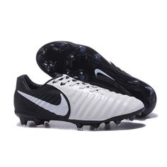 2017 Nike Tiempo Legend VII FG Botas De Futbol Blanco Negro