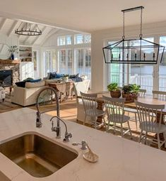 Lighting/furniture arrangement house interior New House Tour - The Lilypad Cottage Furniture Arrangement, House Goals, Home Fashion, Great Rooms, My Dream Home, Dream Life, Future House, Kitchen Design, Sweet Home