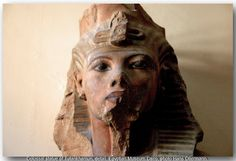 One of the two colossal statues of king Tutankhamun (twinstatues). From Medinet…