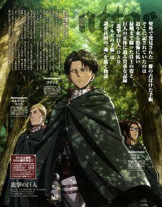 Hange Zoe, Levi Ackerman, Erwin Smith, Shingeki No Kyojin