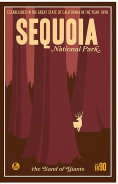 Sequoia National Park Poster by RangerSeries on Etsy