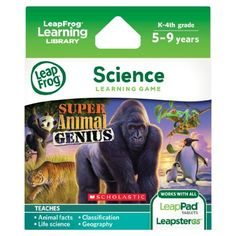 LeapFrog Animal Genius Learning Game (works with LeapPad Tablets, LeapsterGS, and Leapster Explorer), 2016 Amazon Top Rated Children's Software  #Software