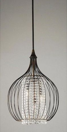 Copper/Crystal Pendant Chandelier - $146.69 » A contrasting mix of copper and…