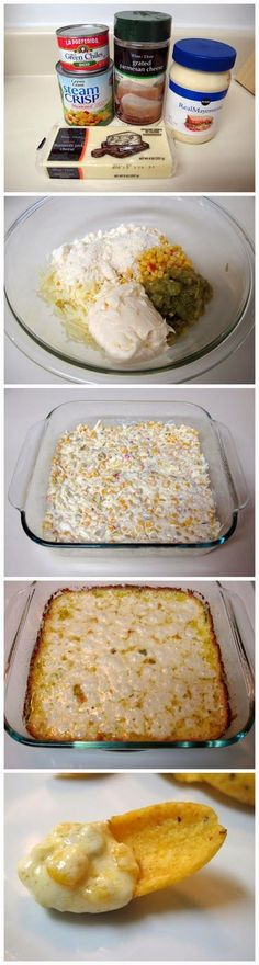 Warm Corn Dip -- only 5 ingredients served with Fritos or other corn chips -- always a crowd-pleaser!