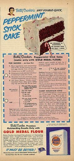 peppermint stick cake View all sizes View slideshow View Exif info ? Cupcakes, Cupcake Cakes, Fruit Cakes, Holiday Baking, Christmas Baking, Old Recipes, Cooking Recipes, Cake Recipes, Vintage Baking