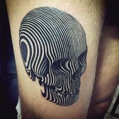 Skull black lines tattoo, Geometric lines tattoos Lines Tattoo, Et Tattoo, Tattoo Motive, Tattoo You, Skull Tattoos, Body Art Tattoos, Tribal Tattoos, Thigh Tattoos, Geometric Tattoo Skull
