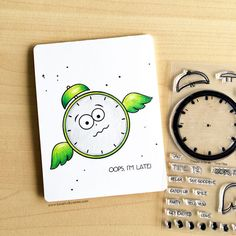 This card was created with Create a Smile Times Flies stamp set and colored with Tombow Recycled Color Pencils.