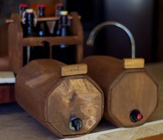 Perfect to hide the box wine in the fridge - Wooden Wine Barrels