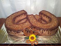 German Chocolate Horseshoe Grooms Cake! By Myrna's Yummy Cakes