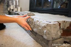 DIY Brick Fireplace Makeover   Fireplace surround makeover with AirStone {GIVEAWAY} - Ask Anna
