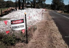 What a dump: The site on Bobs Range Road where waste containing asbestos had been illegally dumped. Picture: Ben Chenoweth.