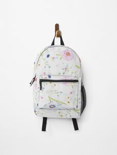 Spring Flowers painting • Millions of unique designs by independent artists. Find your thing. Painting Backpack, Canvas Prints, Art Prints, Spring Flowers, Cotton Tote Bags, Fashion Backpack, Backpacks, Artists, Unique