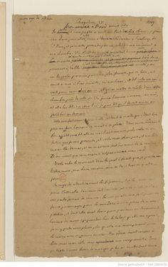 Original handwritten manuscript.  Volume III, from 1750 to 1756, covering Casanova's trip to Paris, Dresden, Vienna and his return to Venice, where he was imprisoned from July 1755 to November 1756.