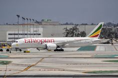 Ethiopian Airlines new service to LAX has the distinction of being the first arrival of the day from Europe as well as the last departure. This means a long break in between. I took this picture of the inaugural on June 20, 2015 as she is being towed out to the remote stands to await this evening's flight home via DUB.
