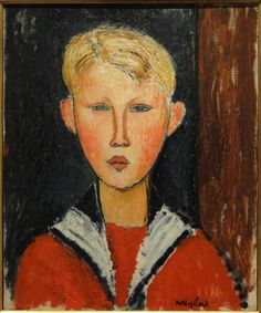 Modigliani. The Blue-Eyed Boy 1916