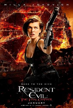 RESIDENT EVIL: THE FINAL CHAPTER movie poster No.5