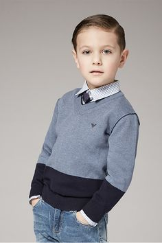 Discover the latest looks by Armani Junior & more for your little style-setter.