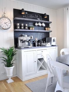Dining Room Cabinet Ideas - Dining Room Cabinet Ideas, 32 Best Dining Room Storage Ideas and Designs for 2020 Coffee Corner Kitchen, Coffee Nook, Coffee Bar Home, Home Coffee Stations, Coffee 21, Zombie Coffee, Fresh Coffee, Coffee Tables, Best Dining