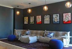 Jolis murs d'accent pour votre salon ~ Décoration Salon / Décor de Salon