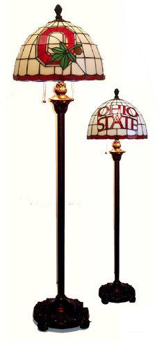 Ohio State Buckeyes Tiffany Floor Lamp