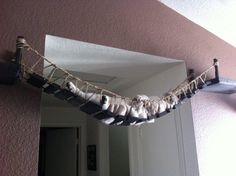 I don't have cats but this is funny. Cat bridge.. indiana jones cat bridge by CatastrophiCreations, $150.00