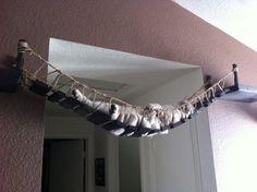 Cat bridge.. indiana jones cat bridge by CatastrophiCreations, $160.00