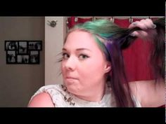 """Garnier Nutrisse Hair Color Review & Tutorial - http://47beauty.com/garnier-nutrisse-hair-color-review-tutorial/ http://47beauty.com/beauty-tutorials/garnier/   https://www.avon.com/?repid=16581277  DISCLAIMER: I DO NOT OWN THE AUDIO, NO COPYRIGHT INFRINGEMENT INTENDED """"Hair"""" by Lady Gaga Tutorial and review of Garnier Nutrisse hair color.  I dyed over my Manic Panic hair color which I loved!  Check out my Manic Panic video tutorial! Products used: -Garnie"""