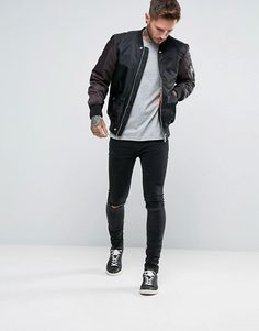 Diesel | Diesel W-To Nylon Bomber Jacket