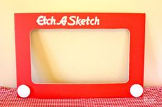 Toy Story Themed Etch a Sketch Photo Booth Prop Picture Frame make a Etch A Sketch photo prop - Design Dazzle 80s Birthday Parties, 30th Party, Birthday Ideas, 30th Birthday, Festa Toy Story, Toy Story Party, 80s Party Decorations, Toy Story Decorations, 2000s Party